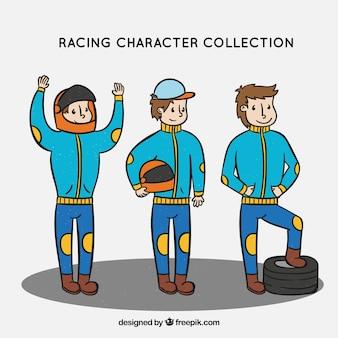 Coleção de personagens de corrida f1
