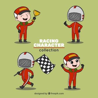Coleção de personagens de corrida