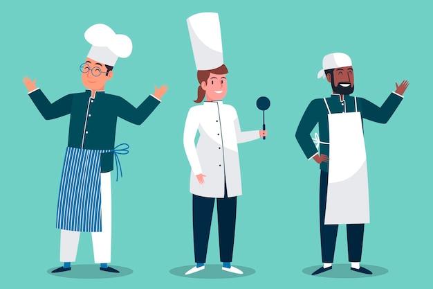 Coleção de personagens de cozinheiro