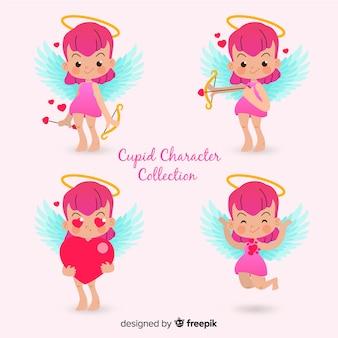 Coleção de personagens de cupido