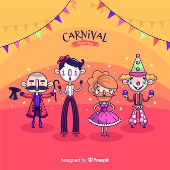Coleção de personagens de fantasia de carnaval