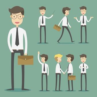 Coleção de personagens de negócios