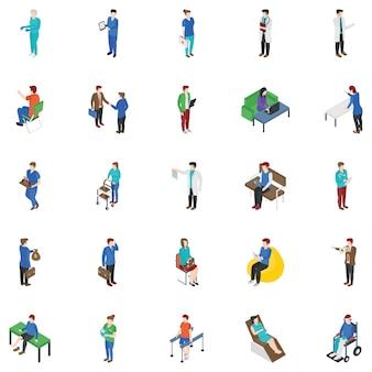 Coleção de personagens de pessoas profissionais