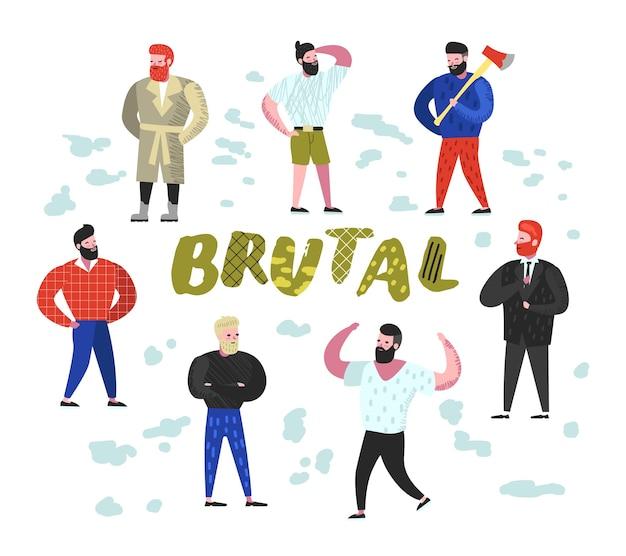 Coleção de personagens do brutal man flat