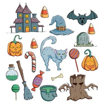 Coleção de personagens do dia das bruxas