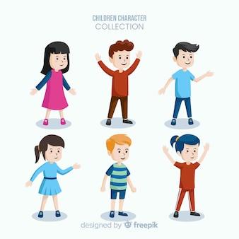 Coleção de personagens do dia dos meninos