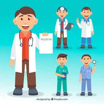 Coleção de personagens do médico