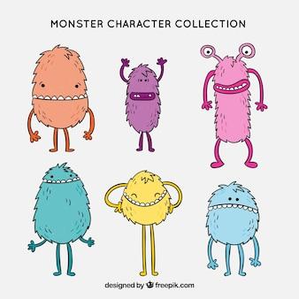 Coleção de personagens engraçados monstros