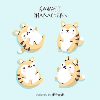 Coleção de personagens kawaii