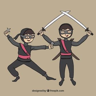 Coleção de personagens ninja