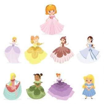 Coleção de personagens princesa