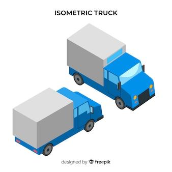 Coleção de perspectivas de caminhão isométrica