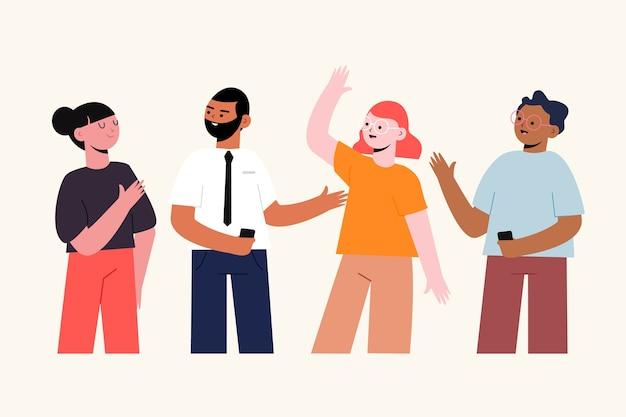 Coleção de pessoas confiantes de ilustração