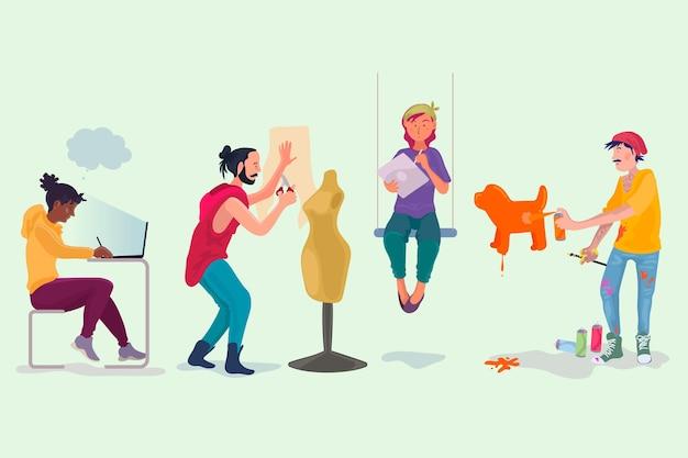 Coleção de pessoas de design