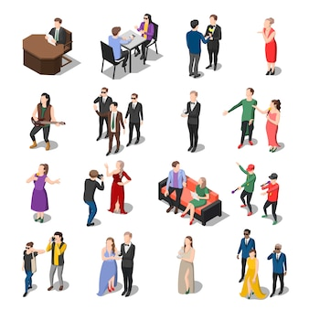 Coleção de pessoas de programa de televisão Vetor grátis
