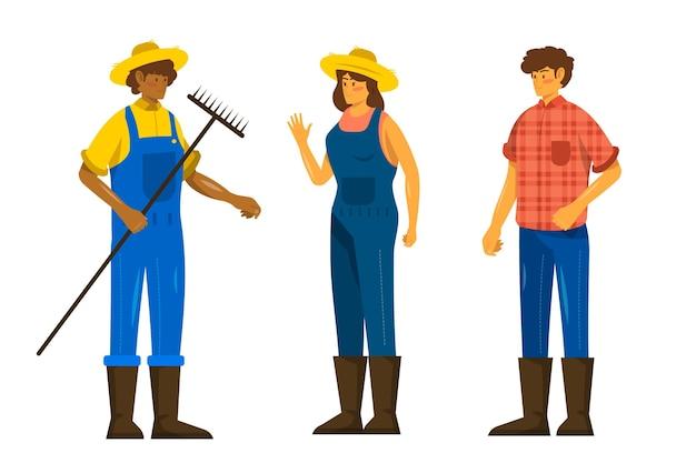 Coleção de pessoas do fazendeiro