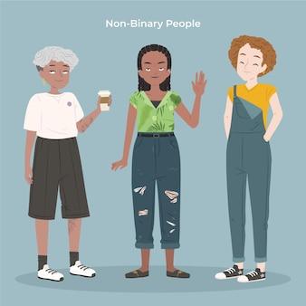 Coleção de pessoas não binárias