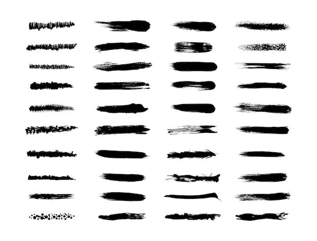 Coleção de pincéis texturizados e grunge