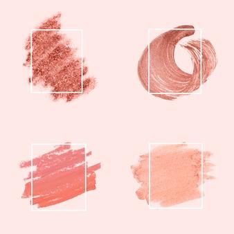 Coleção de pinceladas cor de rosa