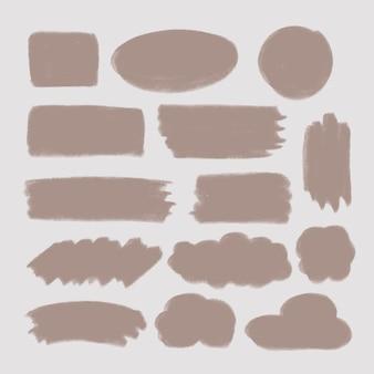 Coleção de pinceladas de giz roxo