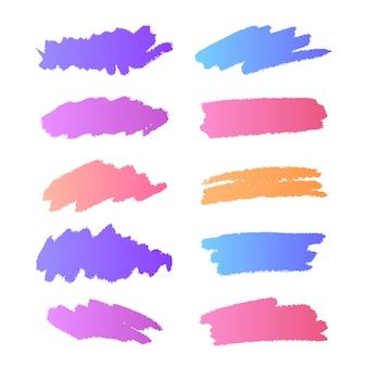 Coleção de pinceladas de gradiente