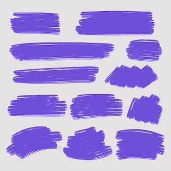 Coleção de pinceladas de tinta