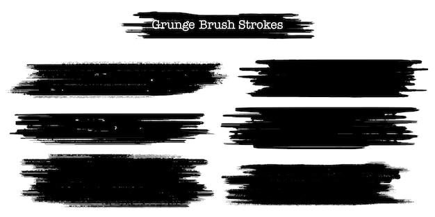 Coleção de pinceladas grunge