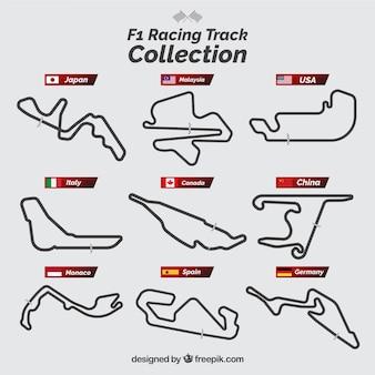 Coleção de pista de corrida