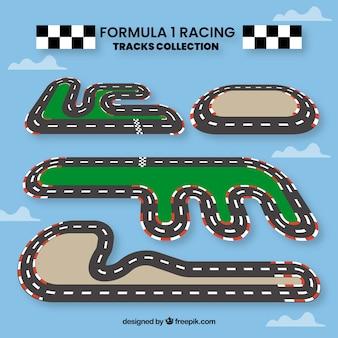 Coleção de pistas de corrida f1