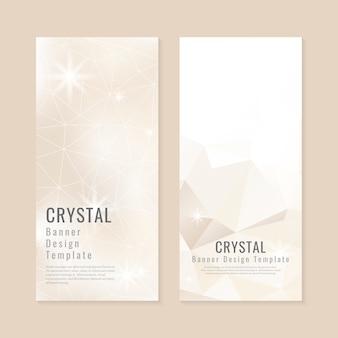 Coleção de plano de fundo texturizado cristal