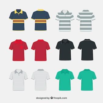 Coleção de polo camisa padrão variado