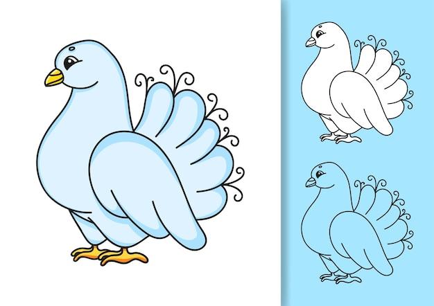 Coleção de pombo branco de casamento
