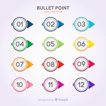 Coleção de ponto de bala