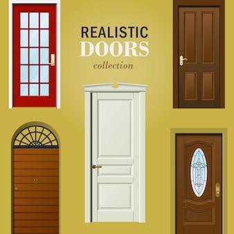 Coleção de portas realistas