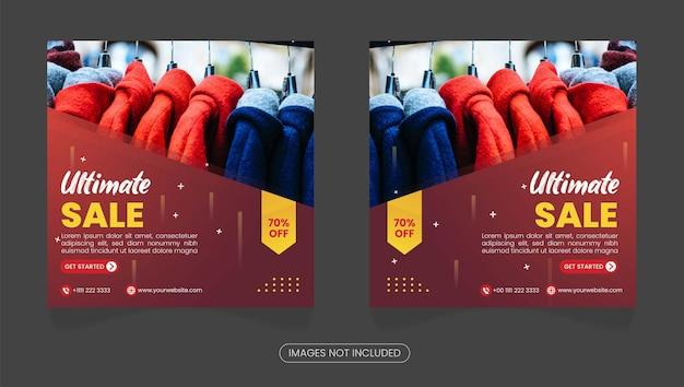 Coleção de pós-instagram de venda plana definitiva vector premium