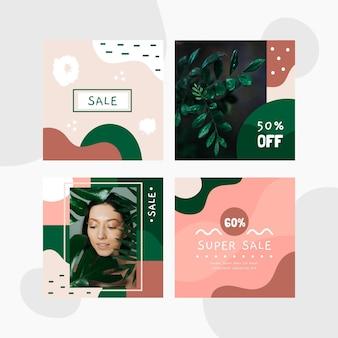 Coleção de post de ig de venda orgânica