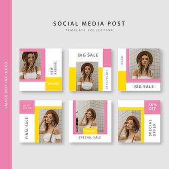 Coleção de post de mídia social
