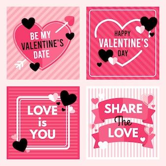 Coleção de postagem do dia dos namorados