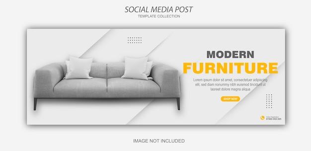 Coleção de postagens de mídia social de móveis modernos