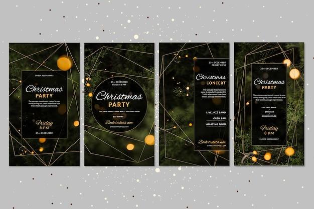 Coleção de postagens de natal no instagram