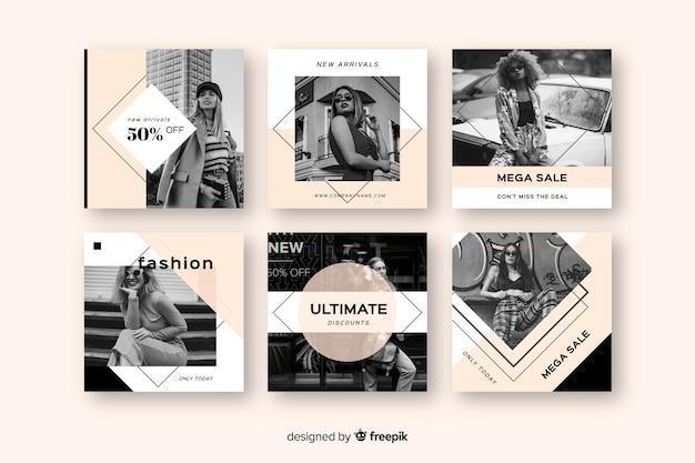 Coleção de postagens de venda do instagram