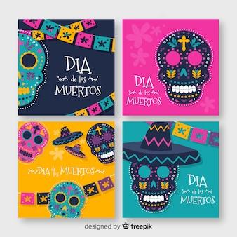 Coleção de postagens do dia de muertos instagram