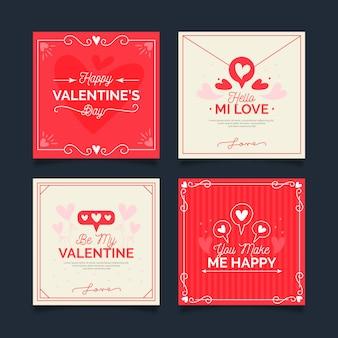 Coleção de postagens do dia dos namorados