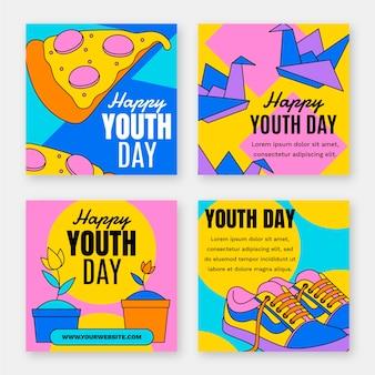 Coleção de postagens do dia internacional da juventude