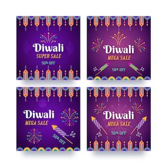 Coleção de postagens do diwali para venda no instagram