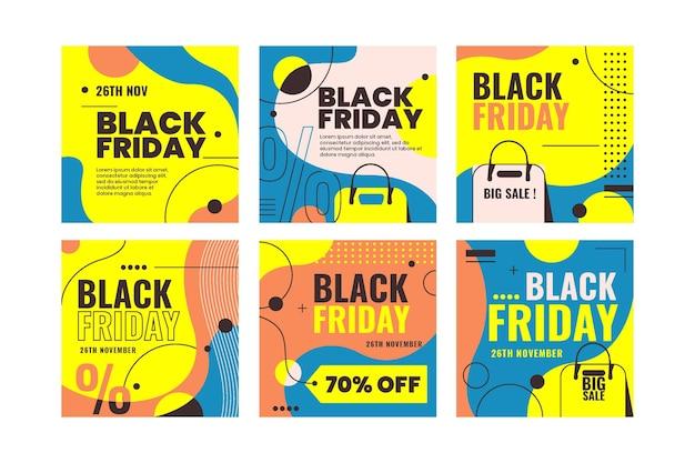 Coleção de postagens do instagram black friday
