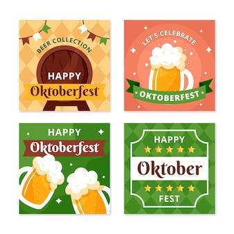 Coleção de postagens do instagram da oktoberfest