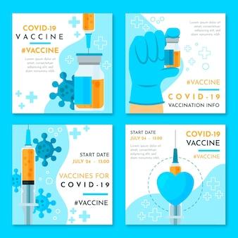 Coleção de postagens do instagram da vacina