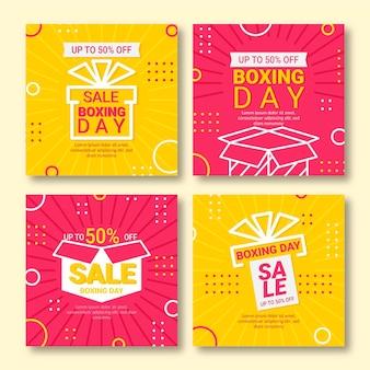 Coleção de postagens do instagram de boxing day