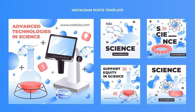 Coleção de postagens do instagram de ciência isométrica